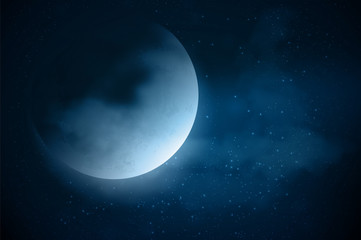 Moon night background