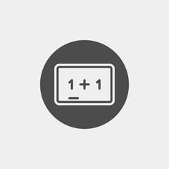 Chalk board flat vector icon