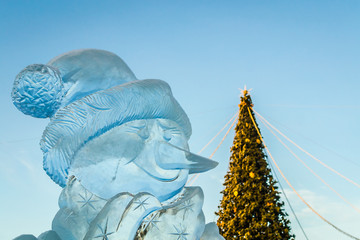ice sculptures in the city
