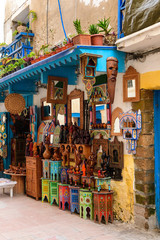 Foto op Aluminium Zuid-Amerika land colorful crafts at moroccan market