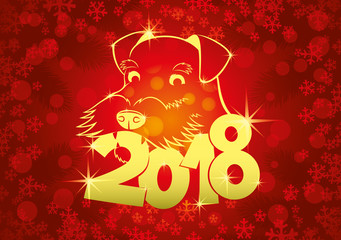 Dog symbol of the new year.
