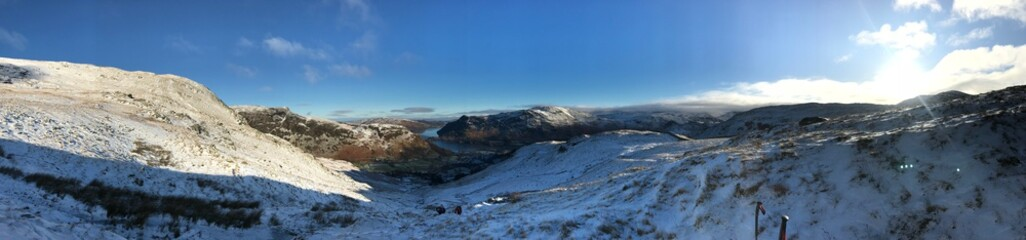 The English Lake district with a sprinkling of snow
