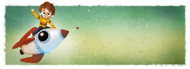 El primero en llegar sobre un cohete