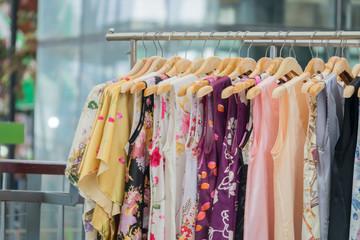 Fashion cloth of women on rack