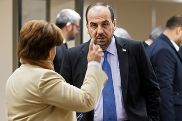Nasr al-Hariri, Head of the Syrian Negotiation Commission, arrives for a round of negotiation with UN Special Envoy to the Secretary-General for Syria Staffan de Mistura during the Intra Syria talks at the UN in Geneva