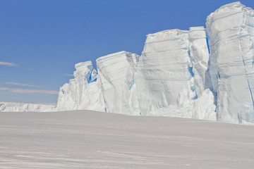 Garden Poster Antarctica Icebergs in the ice-covered sea Davis