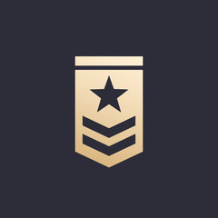 Military rank vector icon