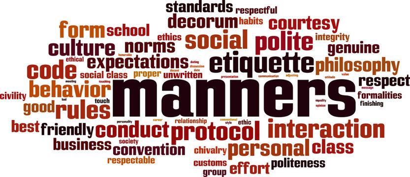 Manners word cloud