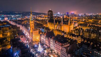 Fototapeta Świąteczna Gdańska Starówka