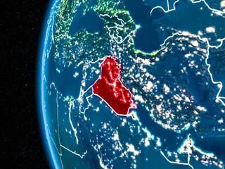 Iraq on Earth at night