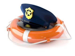 Police hat with life buoy