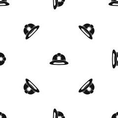 Fireman helmet pattern seamless black