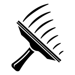 Window mop icon, simple style