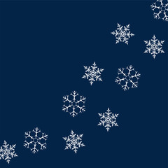frame of snowflakes. Christmas background. To design posters, postcards, greeting, invitation for the new year.
