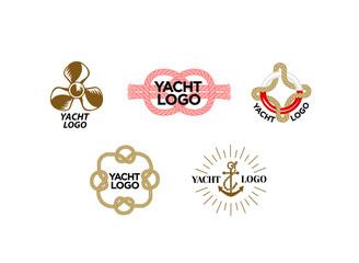 Logo for cruise yacht branding. Vector illustration.
