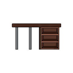 wooden desk icon image