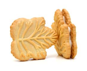 Stack of vanilla sandwich creme cookies