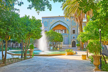 In garden of Madraseh-ye Khan, Shiraz, Iran