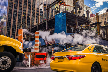 Foto op Canvas New York TAXI taxi New York chantier
