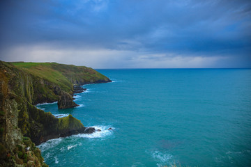 Poster Cote Irish landscape. coastline atlantic coast County Cork, Ireland