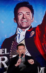 "Australian actor Hugh Jackman talks to the media ahead of a premiere of his latest film, a musical directed by Michael Gracey called ""The Greatest Showman"", in Mexico City, Mexico"