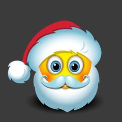 Cute Santa Claus emoticon, emoji