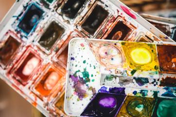 Dirty watercolors palette