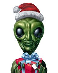 UFO Christmas Character