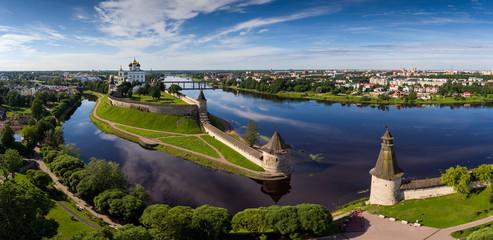 Aerial panorama of Pskov Kremlin
