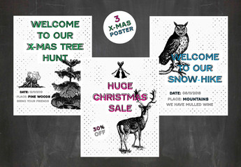 3 Winter Poster Layouts