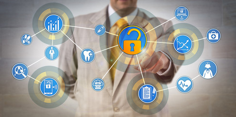 Health Information Manager Accessing Data Network