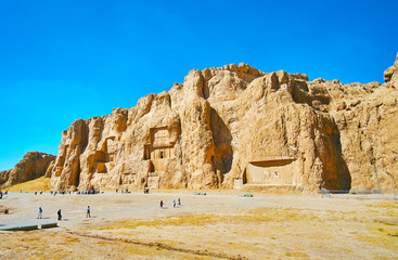 The great Necropolis in Naqsh-e Rustam, Iran