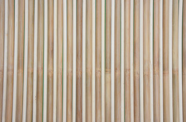 Background of birch and bamboo cane round