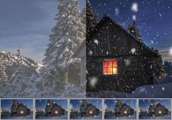Créateur de GIF animés sur le thème de la neige