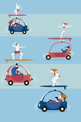 Autonomous Cars and Surfers