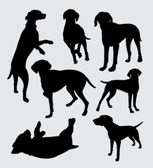 Vizsla dog pet animal silhouette good use for symbol, logo, web icon, mascot, sticker, sign, or any design you want.