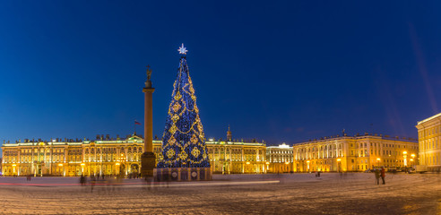 New year in St. Petersburg, Russia