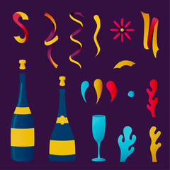 Champagne party drink collection for special event