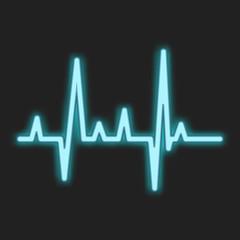Heartbeat blue neon sign
