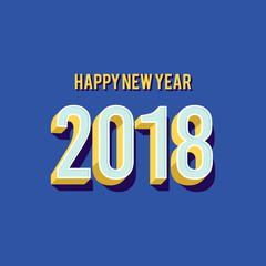 Happy New Year 2018 greeting card background