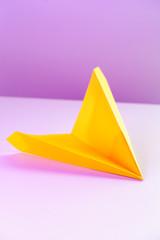 Yellow Paper Airplane