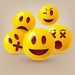 Emoticon. Vector style smile face icons