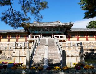Bulguksa temple in Gyeongju, South Korea. World Heritage.