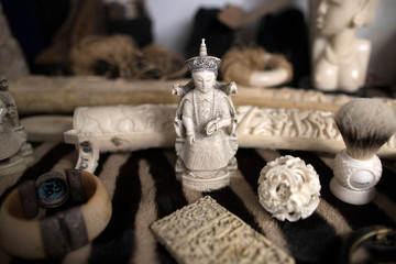 Ivory carvings seized by the UK Border Force