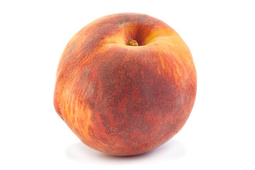 Peach fruit on white