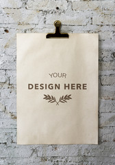 Wall Mural - Design space on blank papers