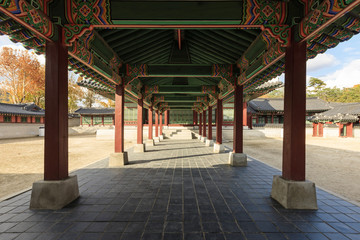 korean royal palace, Gyeongbokgung, landscape