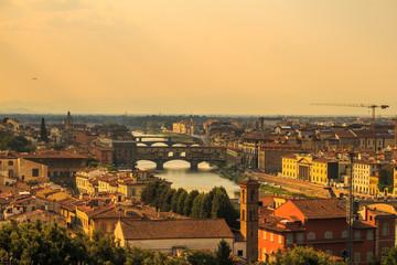 Spoed Fotobehang Praag Ponte Vecchio Florence