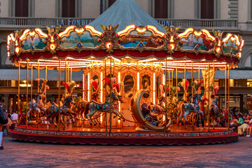 Antique Carousel of the Picci Family: Florence, Italy