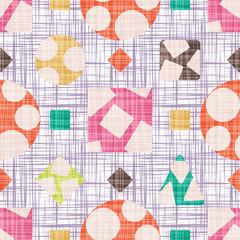 Seamless pattern background design fabric.
